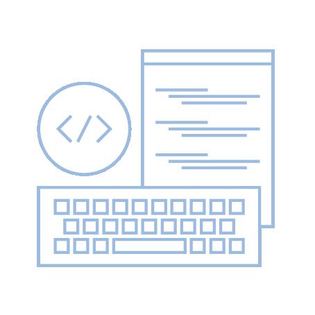 code editor and keyboard